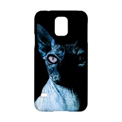 Blue Sphynx Cat Samsung Galaxy S5 Hardshell Case  by Valentinaart