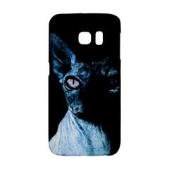 Blue Sphynx Cat Galaxy S6 Edge by Valentinaart