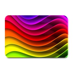 Spectrum Rainbow Background Surface Stripes Texture Waves Plate Mats by Simbadda