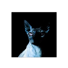 Blue Sphynx Cat Satin Bandana Scarf by Valentinaart