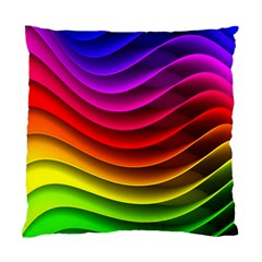 Spectrum Rainbow Background Surface Stripes Texture Waves Standard Cushion Case (two Sides) by Simbadda