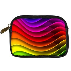 Spectrum Rainbow Background Surface Stripes Texture Waves Digital Camera Cases by Simbadda