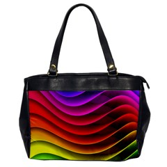 Spectrum Rainbow Background Surface Stripes Texture Waves Office Handbags by Simbadda