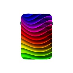 Spectrum Rainbow Background Surface Stripes Texture Waves Apple Ipad Mini Protective Soft Cases by Simbadda