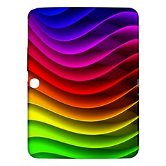 Spectrum Rainbow Background Surface Stripes Texture Waves Samsung Galaxy Tab 3 (10 1 ) P5200 Hardshell Case  by Simbadda