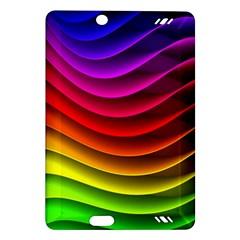 Spectrum Rainbow Background Surface Stripes Texture Waves Amazon Kindle Fire Hd (2013) Hardshell Case by Simbadda