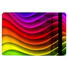 Spectrum Rainbow Background Surface Stripes Texture Waves Ipad Air Flip by Simbadda