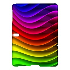 Spectrum Rainbow Background Surface Stripes Texture Waves Samsung Galaxy Tab S (10 5 ) Hardshell Case  by Simbadda