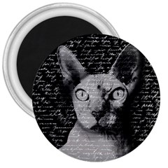 Sphynx Cat 3  Magnets by Valentinaart