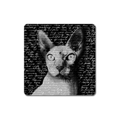 Sphynx Cat Square Magnet by Valentinaart