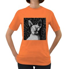 Sphynx Cat Women s Dark T Shirt by Valentinaart