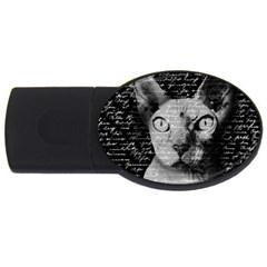 Sphynx Cat Usb Flash Drive Oval (4 Gb) by Valentinaart