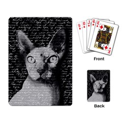Sphynx Cat Playing Card by Valentinaart