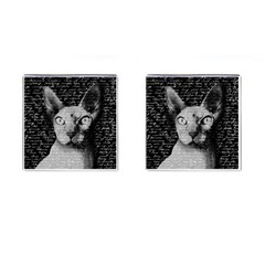 Sphynx Cat Cufflinks (square) by Valentinaart