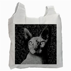 Sphynx Cat Recycle Bag (one Side) by Valentinaart