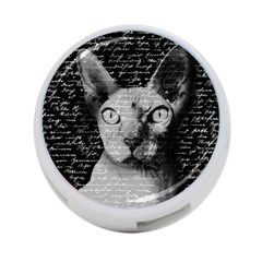 Sphynx Cat 4 Port Usb Hub (one Side) by Valentinaart