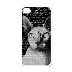 Sphynx Cat Apple Iphone 4 Case (white) by Valentinaart