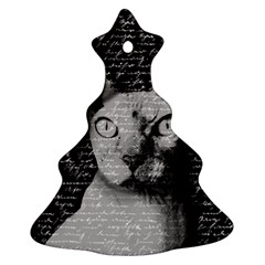 Sphynx Cat Christmas Tree Ornament (two Sides) by Valentinaart