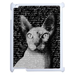 Sphynx Cat Apple Ipad 2 Case (white) by Valentinaart