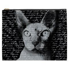 Sphynx Cat Cosmetic Bag (xxxl)  by Valentinaart