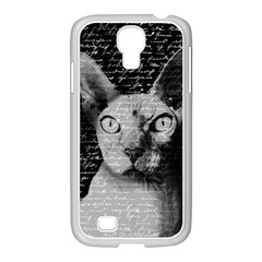 Sphynx Cat Samsung Galaxy S4 I9500/ I9505 Case (white) by Valentinaart