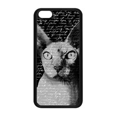 Sphynx Cat Apple Iphone 5c Seamless Case (black) by Valentinaart