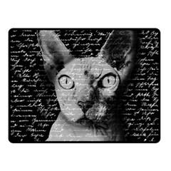 Sphynx Cat Double Sided Fleece Blanket (small)  by Valentinaart