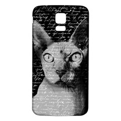 Sphynx Cat Samsung Galaxy S5 Back Case (white) by Valentinaart