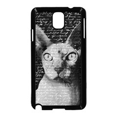 Sphynx Cat Samsung Galaxy Note 3 Neo Hardshell Case (black) by Valentinaart