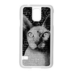 Sphynx Cat Samsung Galaxy S5 Case (white) by Valentinaart