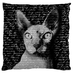 Sphynx Cat Standard Flano Cushion Case (one Side) by Valentinaart