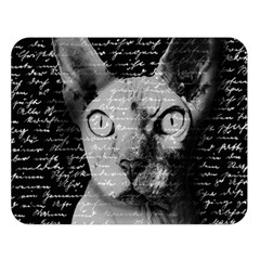 Sphynx Cat Double Sided Flano Blanket (large)  by Valentinaart