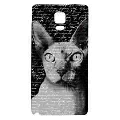 Sphynx Cat Galaxy Note 4 Back Case by Valentinaart