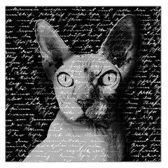 Sphynx Cat Large Satin Scarf (square) by Valentinaart