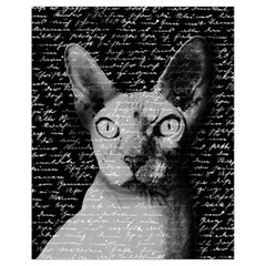 Sphynx Cat Drawstring Bag (small) by Valentinaart