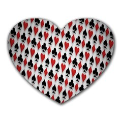 Suit Spades Hearts Clubs Diamonds Background Texture Heart Mousepads by Simbadda