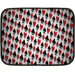 Suit Spades Hearts Clubs Diamonds Background Texture Double Sided Fleece Blanket (mini)