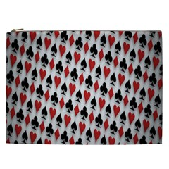 Suit Spades Hearts Clubs Diamonds Background Texture Cosmetic Bag (xxl)  by Simbadda