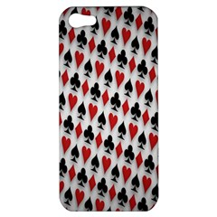 Suit Spades Hearts Clubs Diamonds Background Texture Apple Iphone 5 Hardshell Case by Simbadda