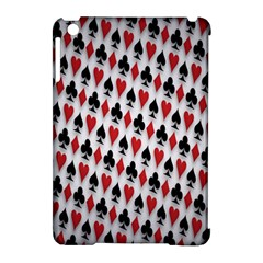 Suit Spades Hearts Clubs Diamonds Background Texture Apple Ipad Mini Hardshell Case (compatible With Smart Cover) by Simbadda