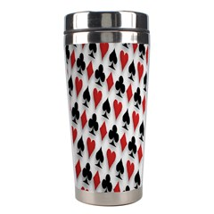 Suit Spades Hearts Clubs Diamonds Background Texture Stainless Steel Travel Tumblers by Simbadda