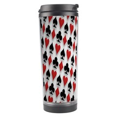Suit Spades Hearts Clubs Diamonds Background Texture Travel Tumbler by Simbadda