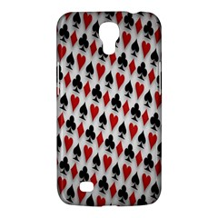 Suit Spades Hearts Clubs Diamonds Background Texture Samsung Galaxy Mega 6 3  I9200 Hardshell Case by Simbadda