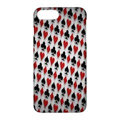 Suit Spades Hearts Clubs Diamonds Background Texture Apple Iphone 7 Plus Hardshell Case by Simbadda