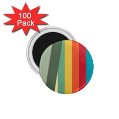 Texture Stripes Lines Color Bright 1 75  Magnets (100 Pack)  by Simbadda