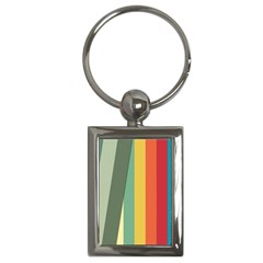 Texture Stripes Lines Color Bright Key Chains (rectangle)  by Simbadda