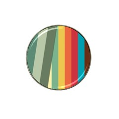 Texture Stripes Lines Color Bright Hat Clip Ball Marker (4 Pack) by Simbadda