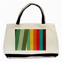 Texture Stripes Lines Color Bright Basic Tote Bag by Simbadda