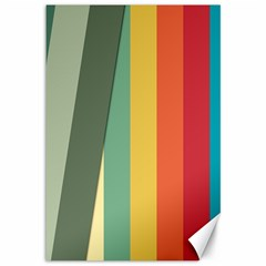 Texture Stripes Lines Color Bright Canvas 12  X 18   by Simbadda