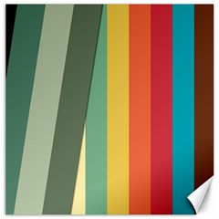 Texture Stripes Lines Color Bright Canvas 20  X 20   by Simbadda
